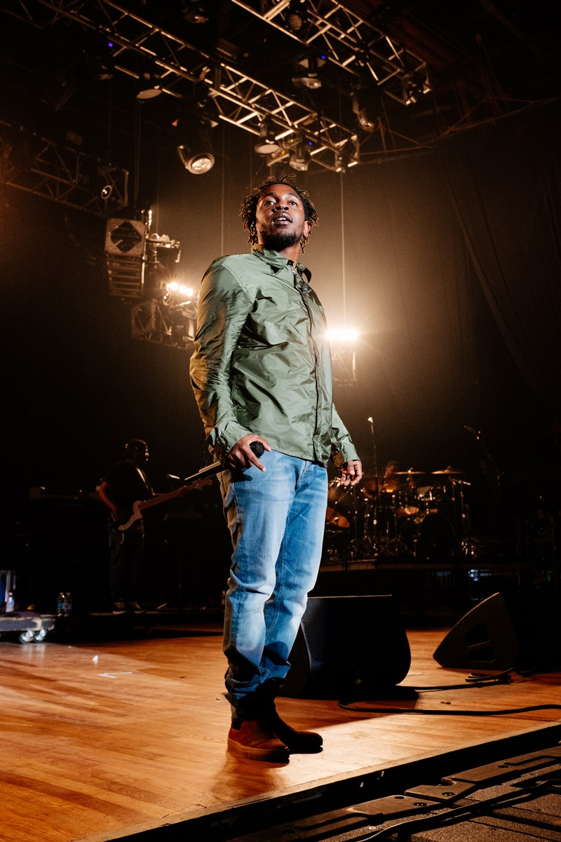 Kendrick Lamar at the Merriweather Post Pavilion on May 30, 2015.