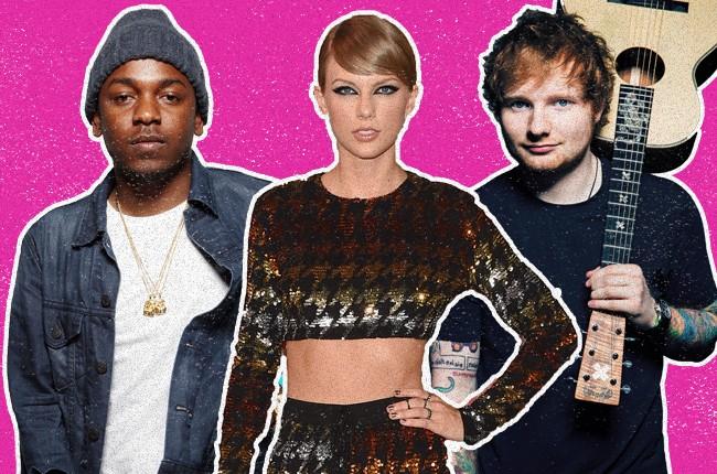 Kendrick Lamar Taylor Swift Ed Sheeran