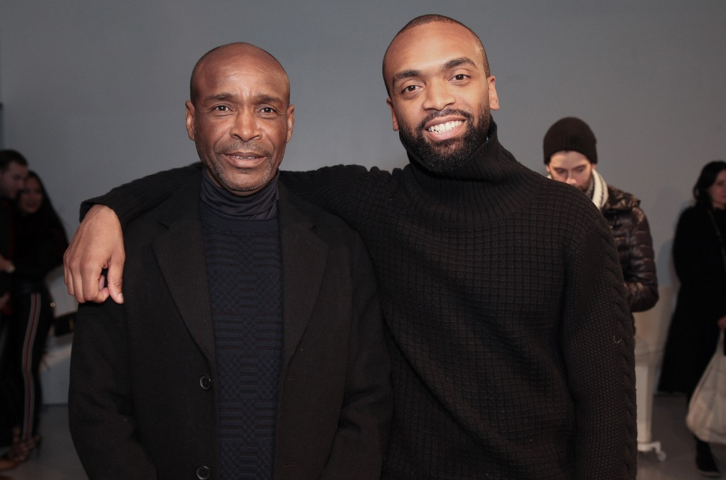 Jean-Claude Jean-Raymond and Kerby Jean-Raymond pose at Pyer Moss at The New Museum on Feb. 14, 2017 in New York City.