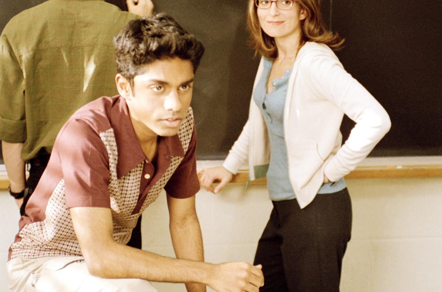 Rajiv Surendra and Tina Fey in 'Mean Girls' in  2004.