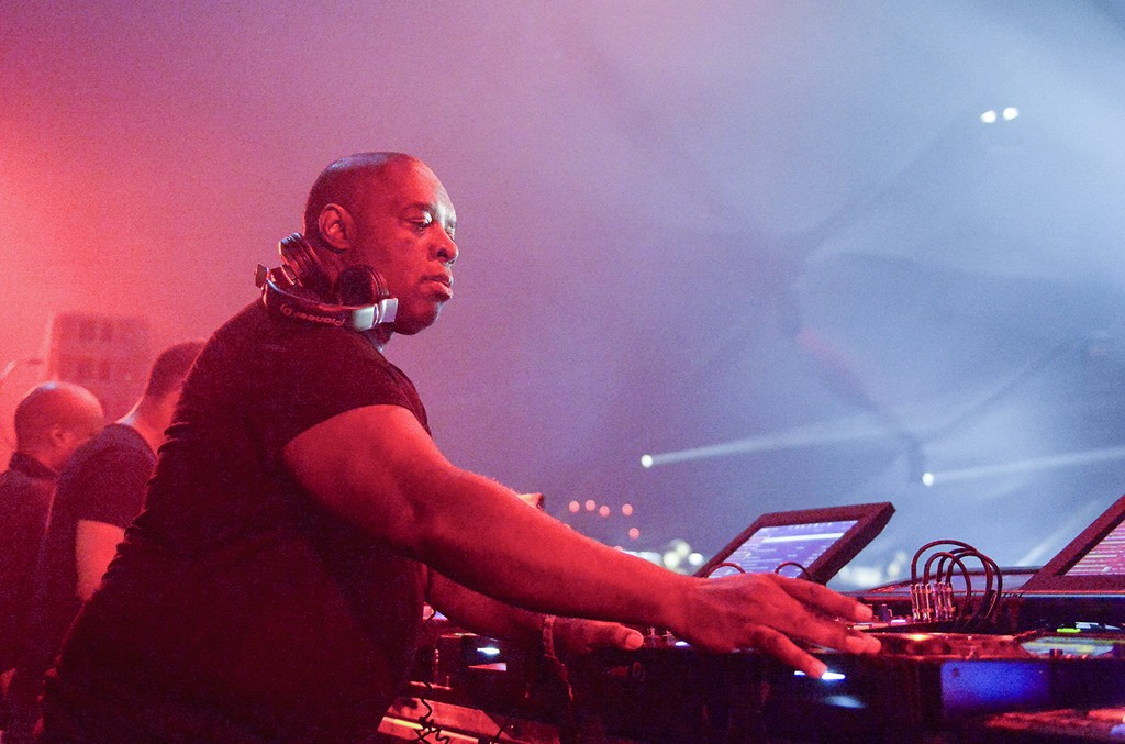 Kevin Saunderson of Belleville Three performs on the Yuma Stage during day 3 of the Coachella Valley Music And Arts Festival (Weekend 1) at the Empire Polo Club on April 16, 2017 in Indio, California.  (Photo by Matt Cowan/Getty Images for Coachella)