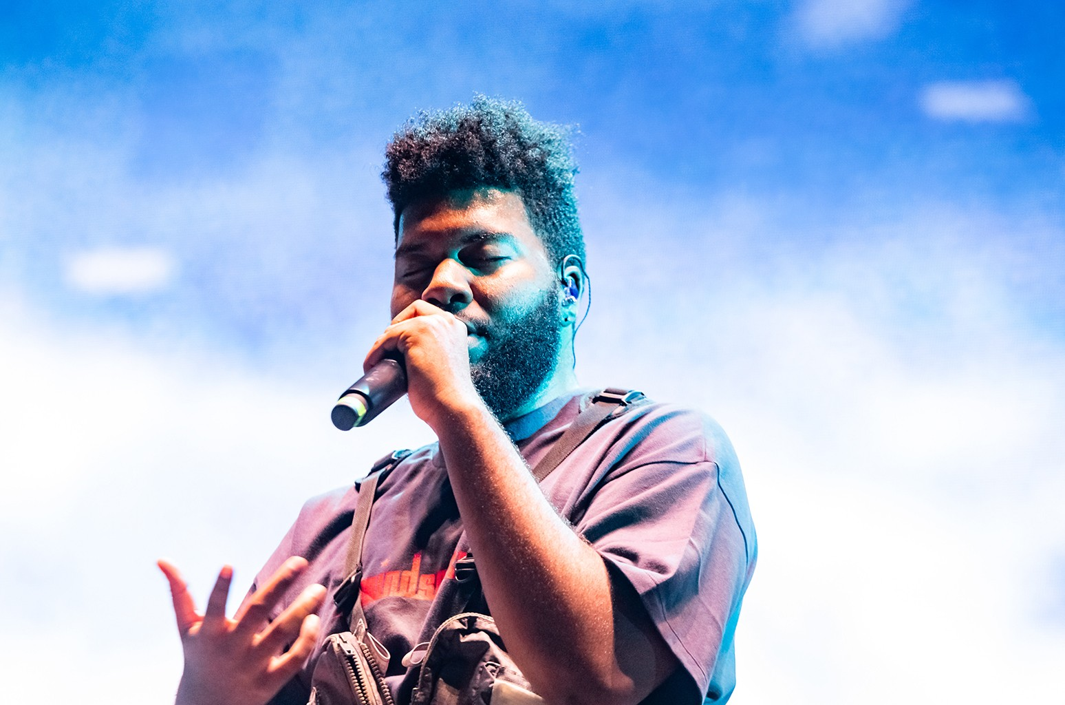 Khalid performs at Clockenflap, Nov. 11, 2018, at Central Harbourfront in Hong Kong.