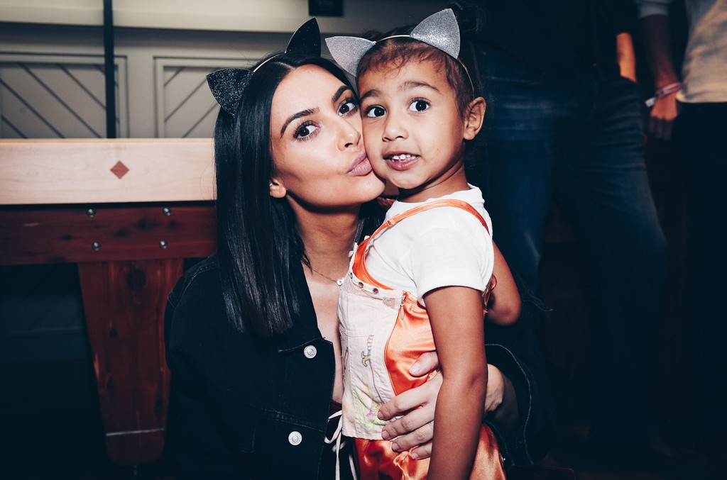 Kim Kardashian and North West  at Ariana Grande Dangerous Woman show at the Forum on March 31, 2017 in Inglewood, Calif.