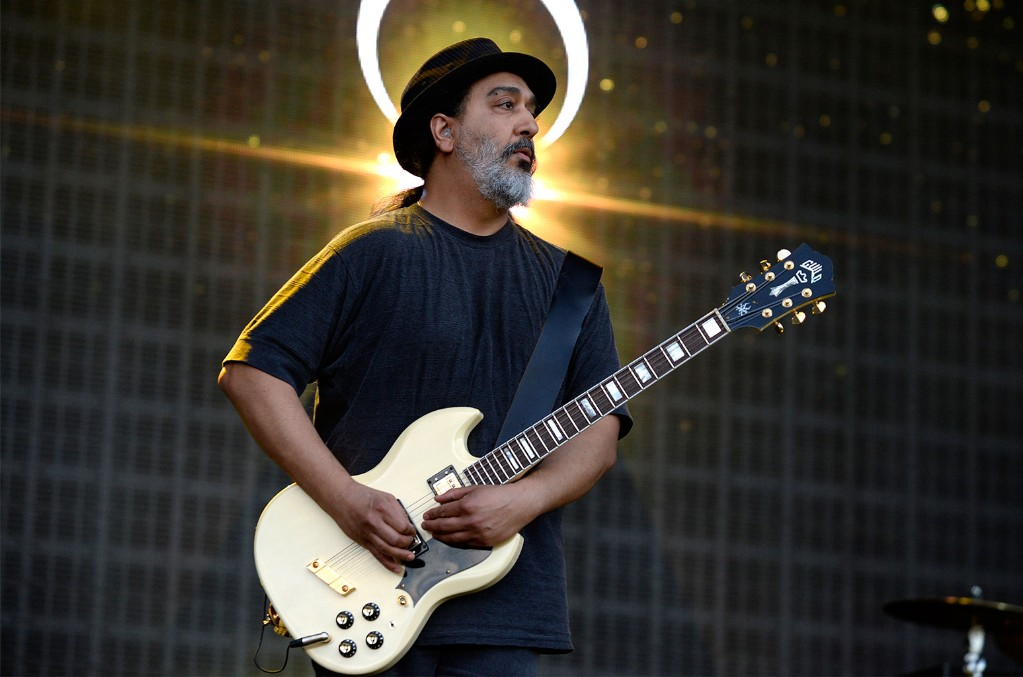 Kim Thayil of Soundgarden performs on stage at the Soundwave Festival at Melbourne showgrounds on Feb. 22, 2015 in Melbourne, Australia.