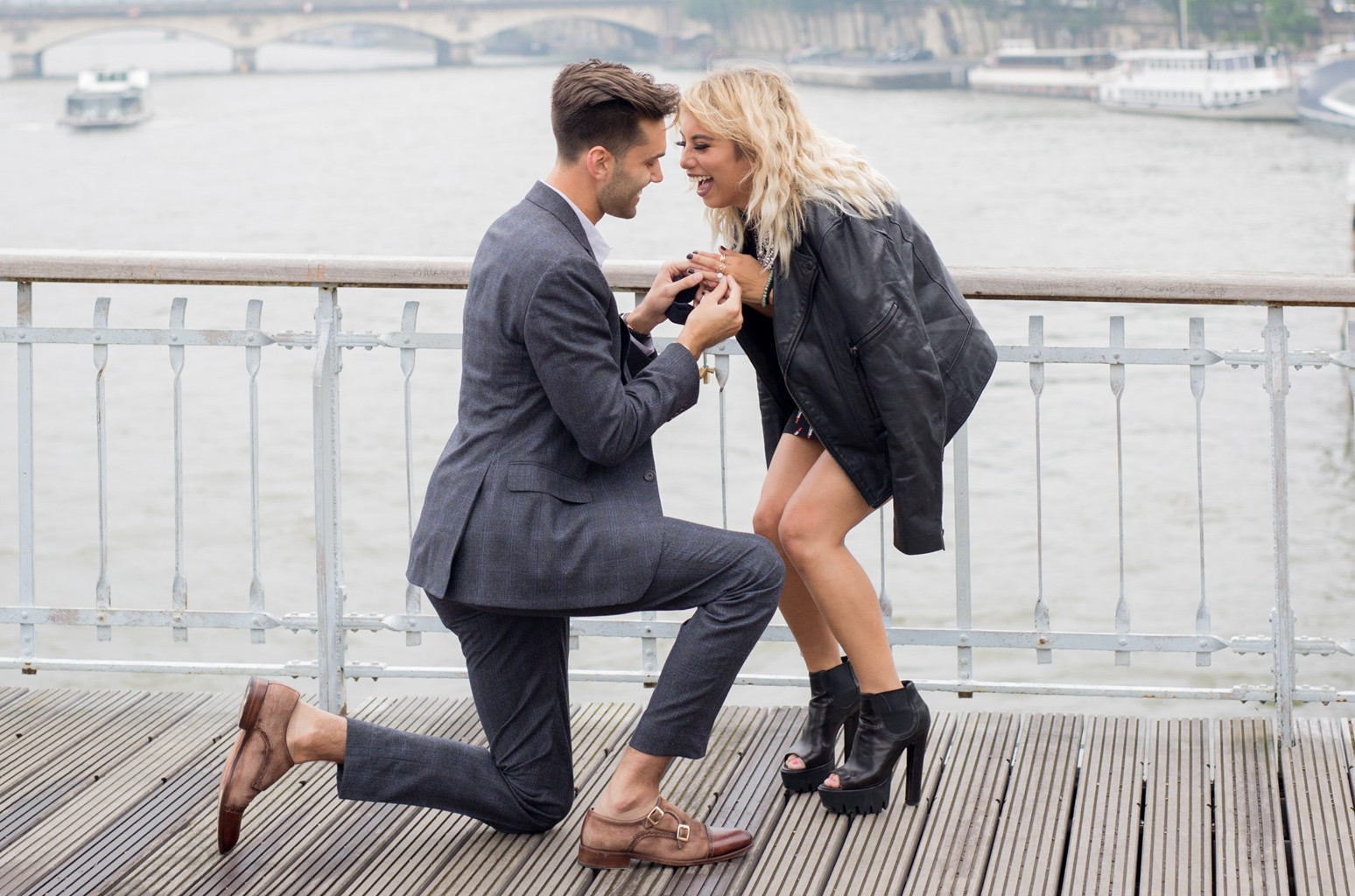 Kirstin Maldonado and Jeremy Michael Lewis get engaged in Paris.