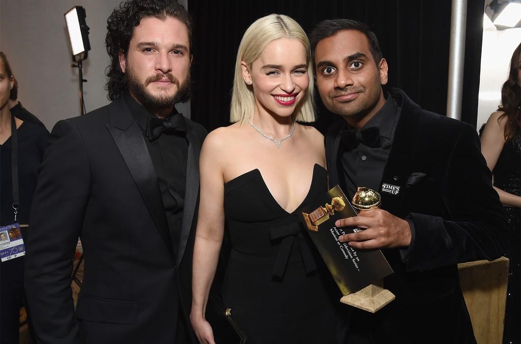 Kit Harington, Emilia Clarke and Aziz Ansari