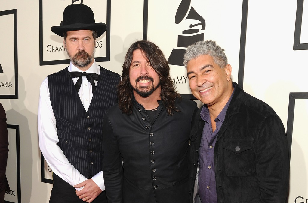 Krist Novoselic, Dave Grohl, and Pat Smear