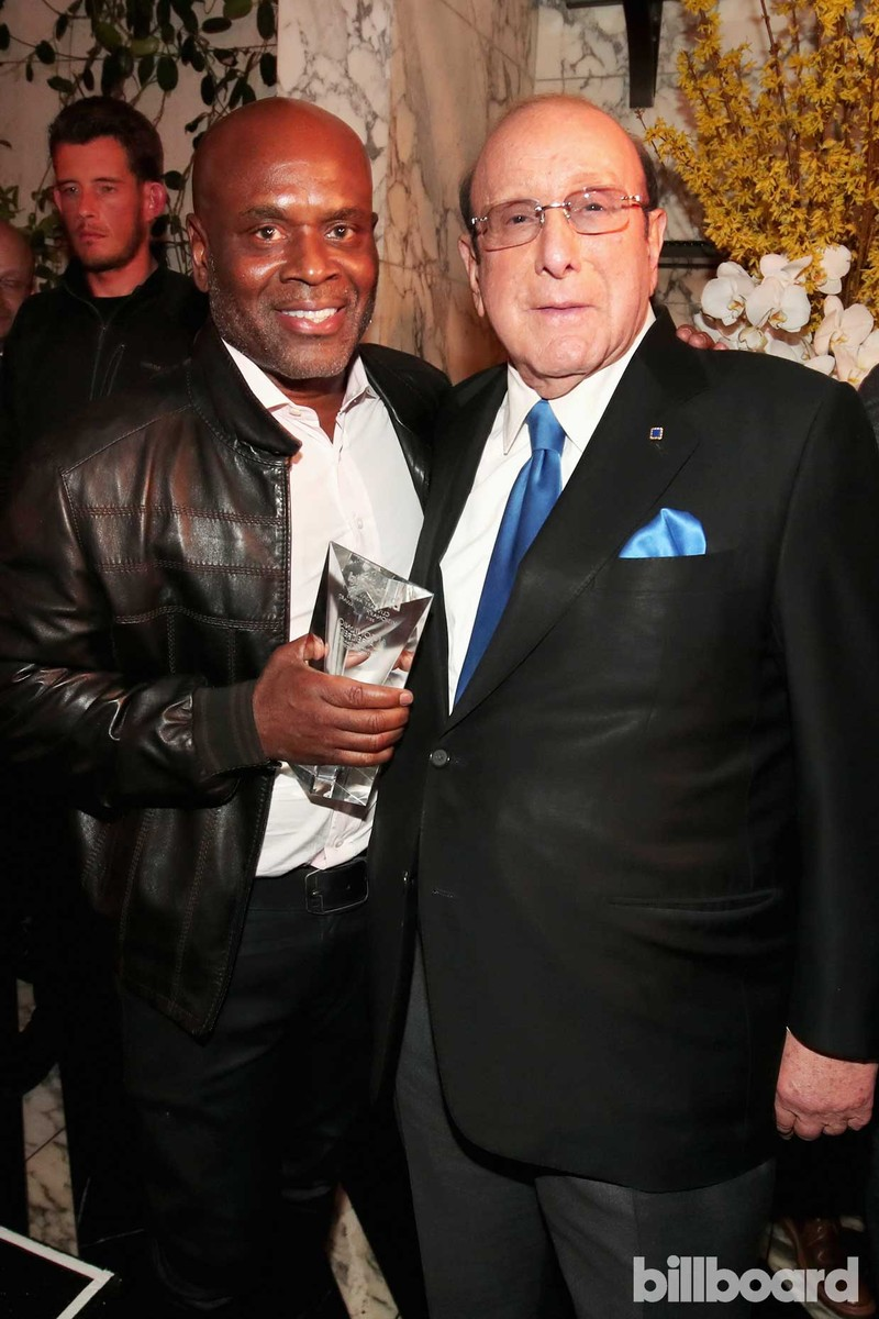 L.A. Reid, CEO of Epic Records and record producer Clive Davis attend 2017 Billboard Power 100 - Inside at Cecconi's on Feb. 9, 2017 in West Hollywood, Calif.