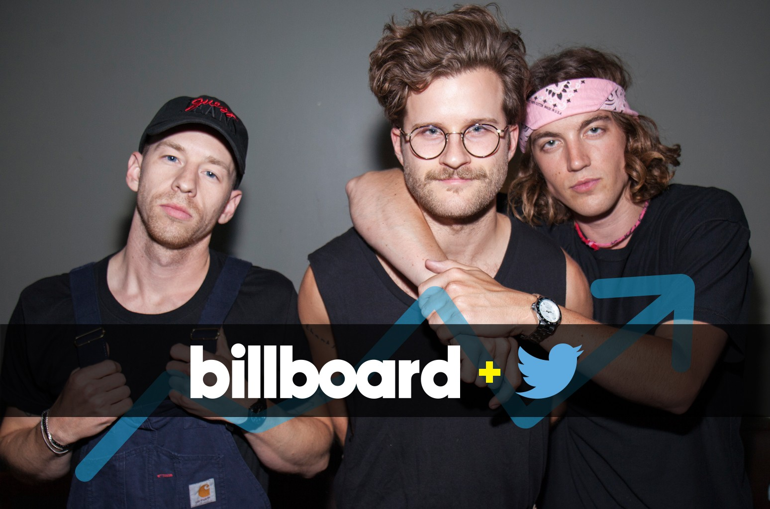 Les Priest, Jake Goss and Paul Klein of LANY