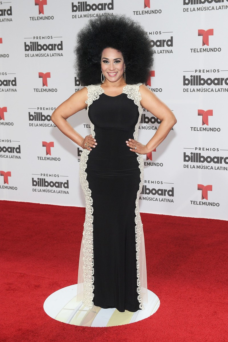 Aymee Nuviola attends the Billboard Latin Music Awards