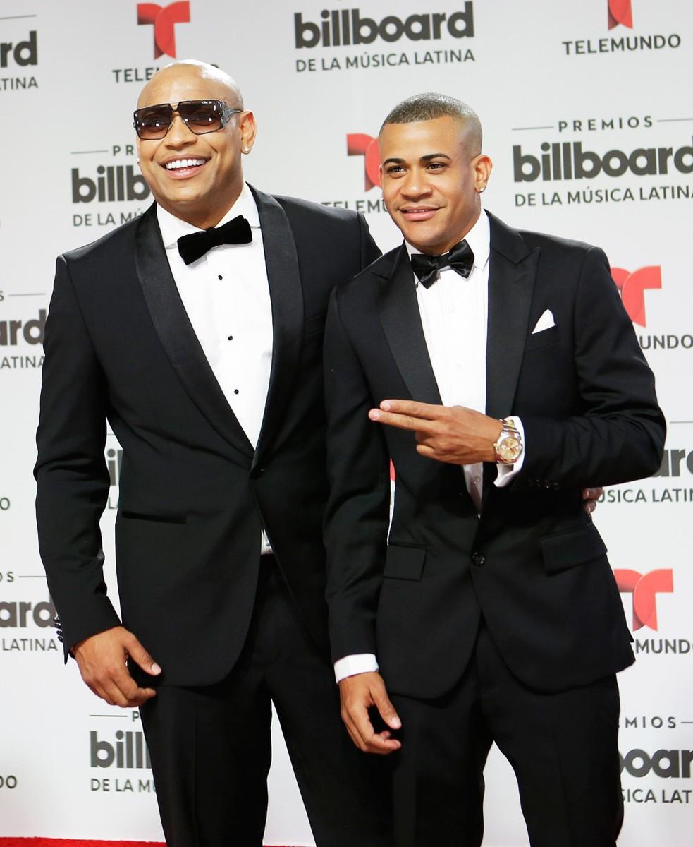 Gente de Zona musical duo, Alexander Delgado, left and Randy Martinez,