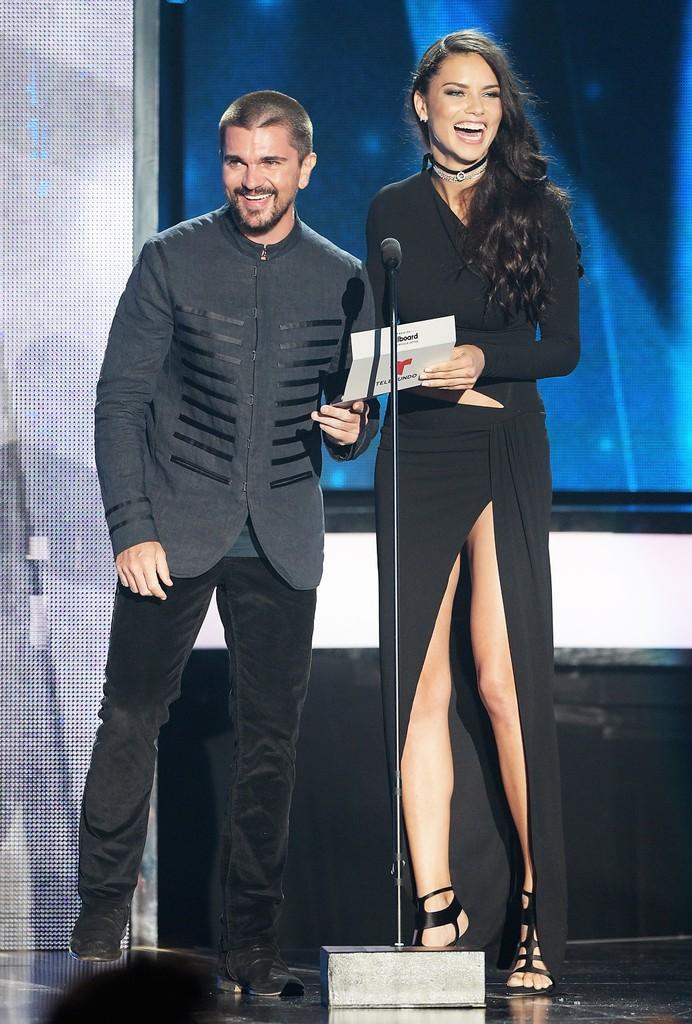 Juanes & Adriana Lima at the Billboard Latin Music Awards