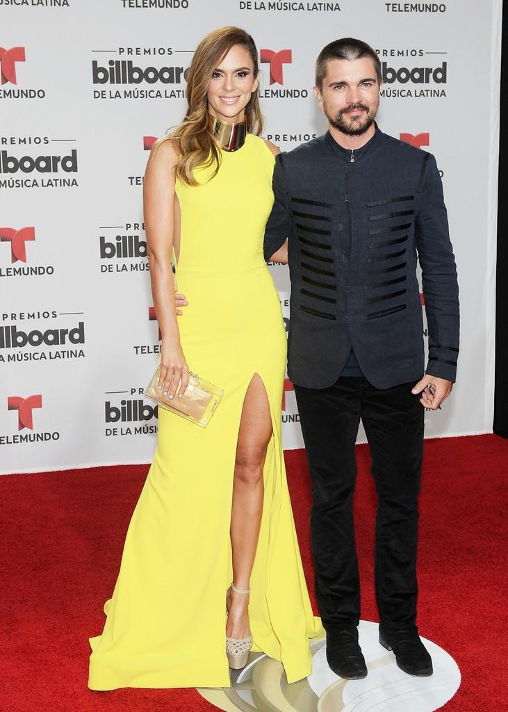 Karen Martinez y Juanes attend the Billboard Latin Music Awards