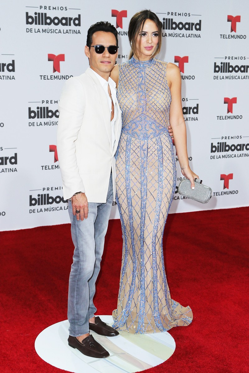 Marc Anthony and Shannon de Lima attend the Billboard Latin Music Awards