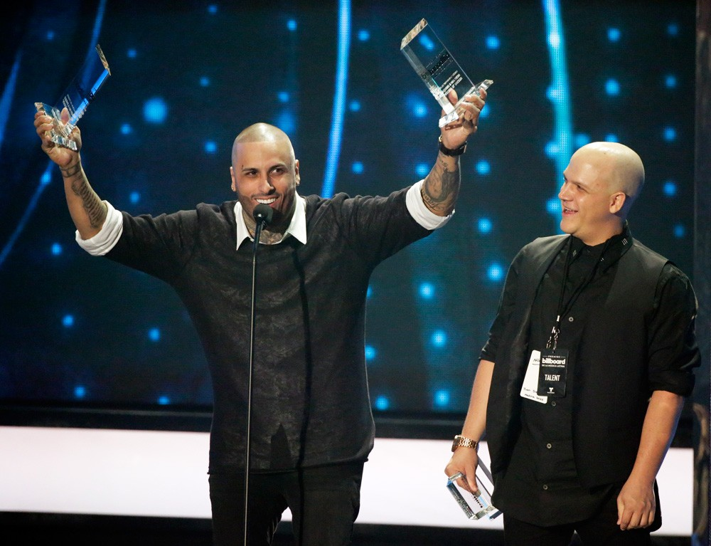 Nicky Jam Accepts Hot Latin Song of the Year Award
