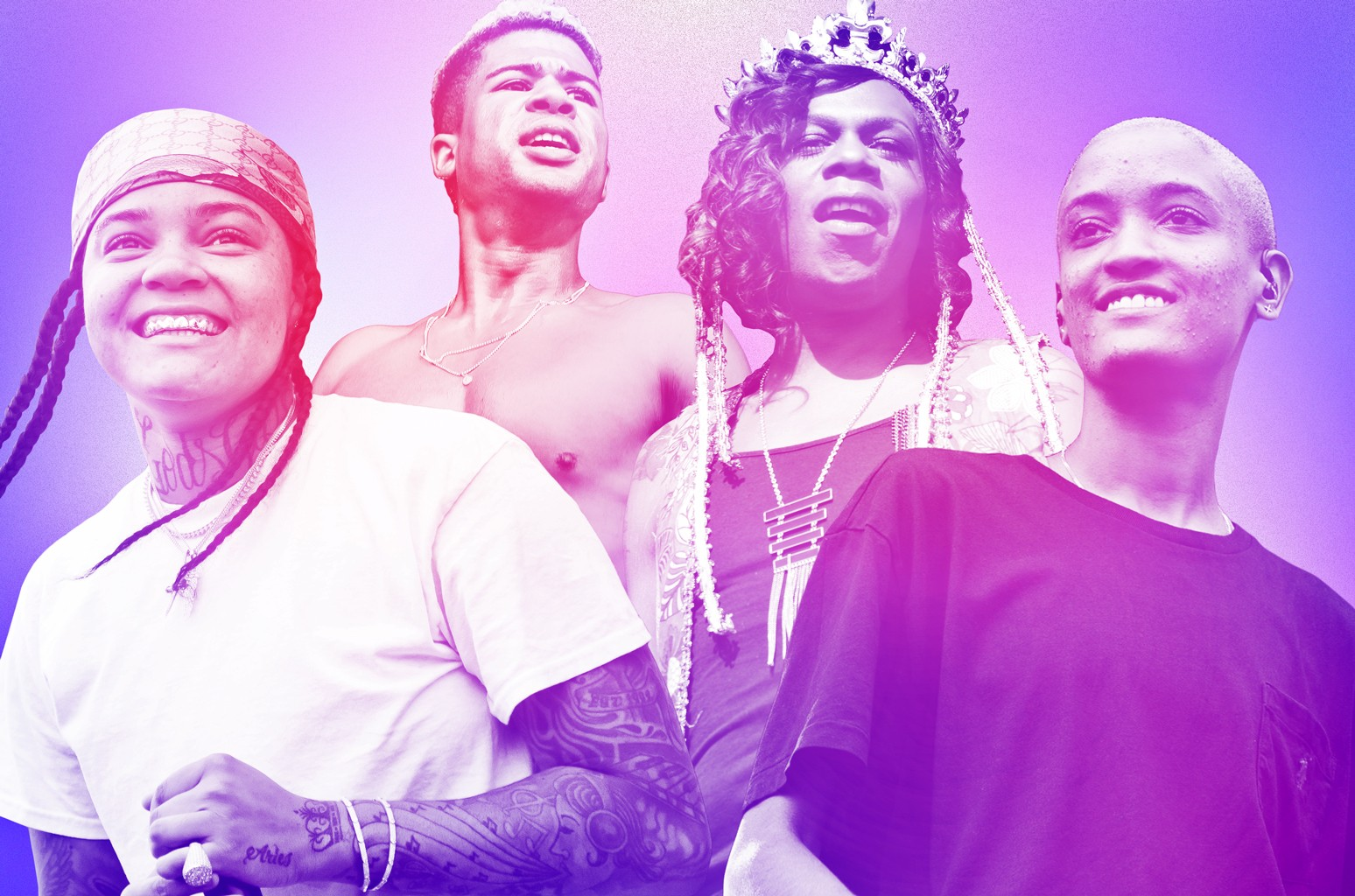 (L-R) Young M.A, iLoveMakonnen, Big Freedia & Syd (The Internet)