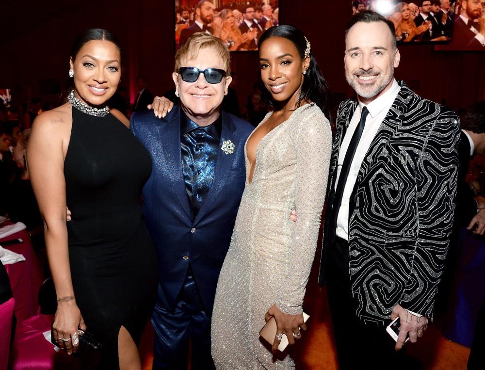 La La Anthony, Sir Elton John, Kelly Rowland, and David Furnish