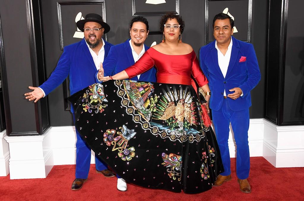 La Santa Cecilia attend The 59th Grammy Awards at Staples Center on Feb. 12, 2017 in Los Angeles.