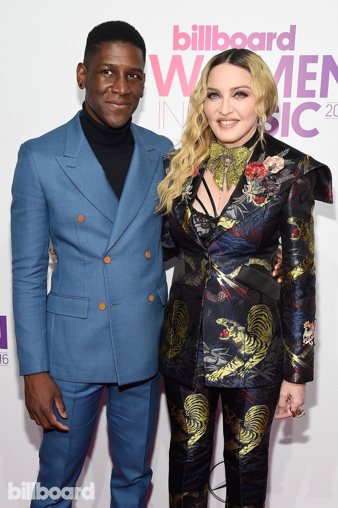 Labrinth and Madonna attend the Billboard Women in Music 2016 event on Dec. 9, 2016 in New York City.