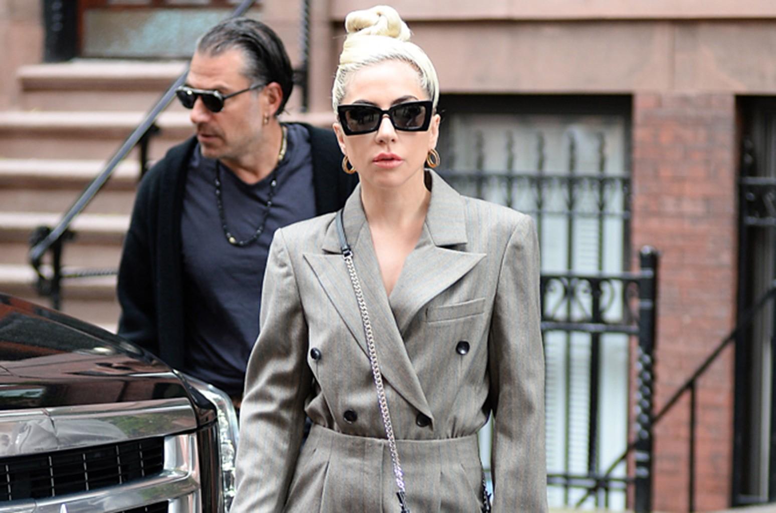Lady Gaga arrives at Electric Lady Studios.