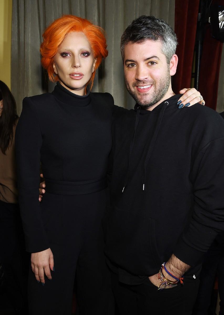 Lady Gaga and designer Brandon Maxwell