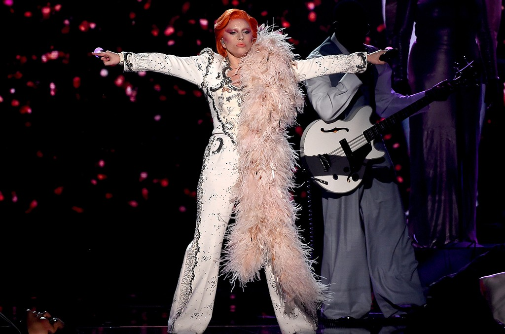Lady Gaga performs onstage during The 58th Grammy Awards at Staples Center on Feb. 15, 2016 in Los Angeles.