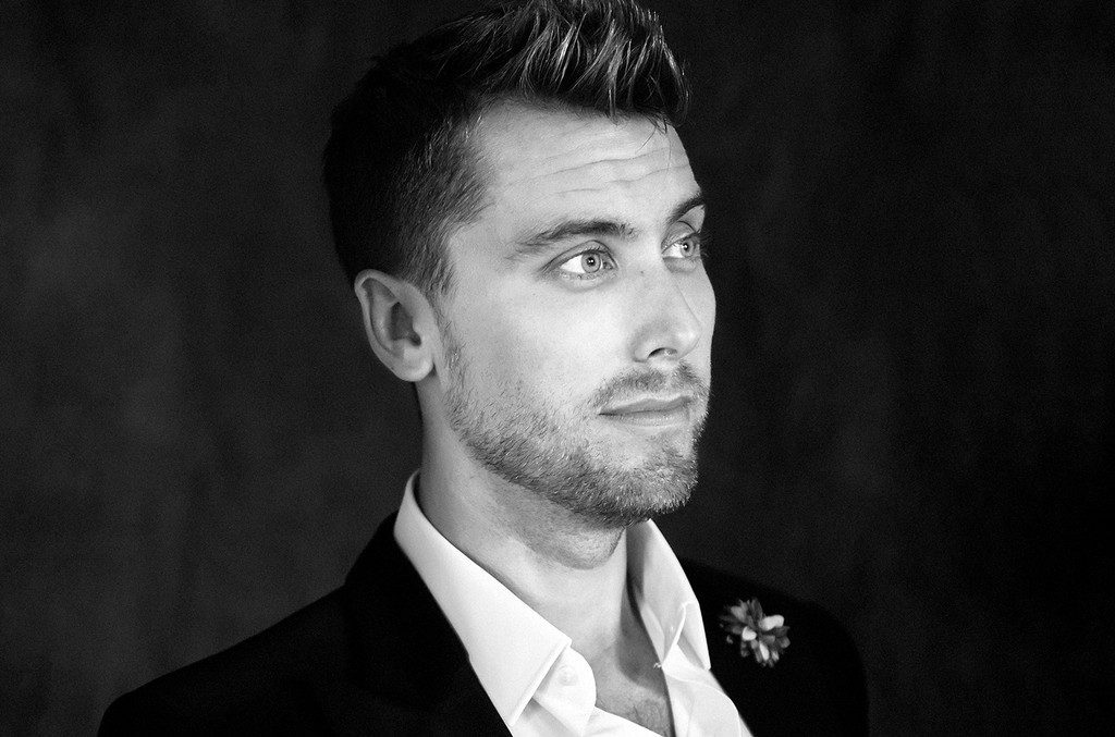 "Lance Bass poses for a portrait at Logo's ""Trailblazer Honors"" on June 23, 2016, in the Cathedral of St. John the Divine in New York City."