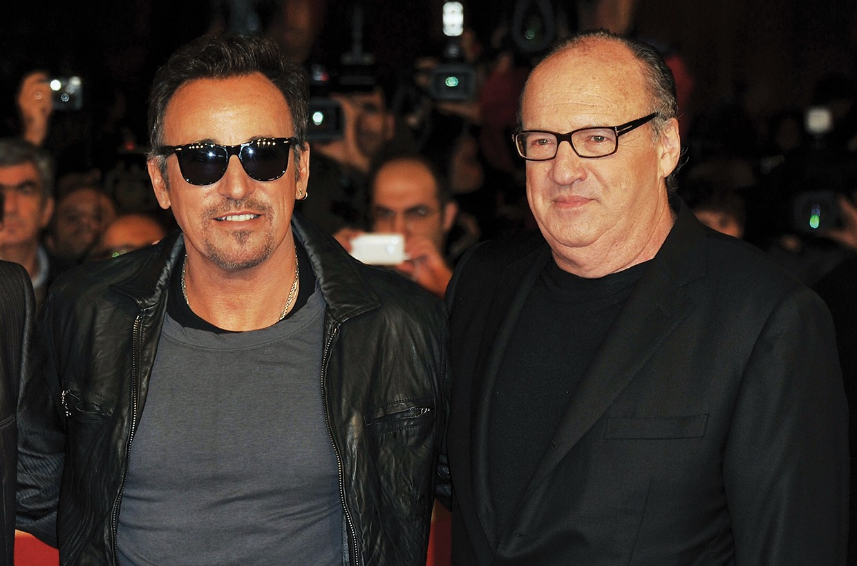 Landau (right) with Springsteen