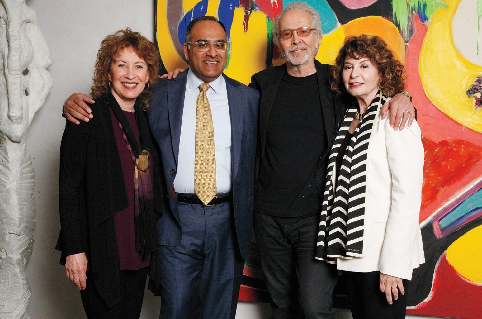 Lani Hall Alpert, Ravi Rajan, Herb Alpert and Rona Sebastian