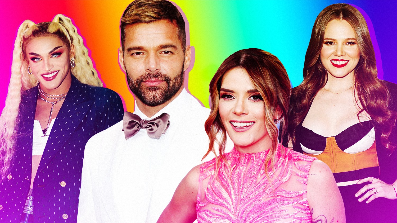 Pabllo Vittar, Ricky Martin, Kany García and Joy Huerta of Jesse y Joy
