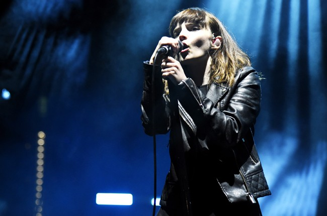 Lauren Mayberry of Chvrches performs during Fun Fun Fun Fest 2015