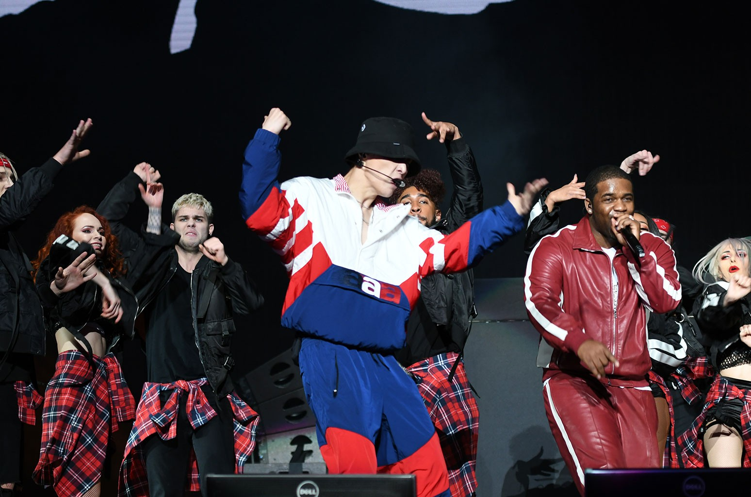 Lay Zhang performs with A$AP Ferg