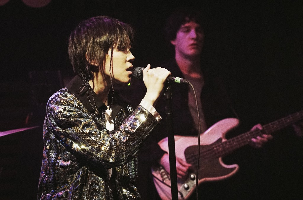 Leah Dou performs at 'Beats Presents' in Los Angeles at Sayers Club as part of her U.S. tour on Jan. 25, 2017.