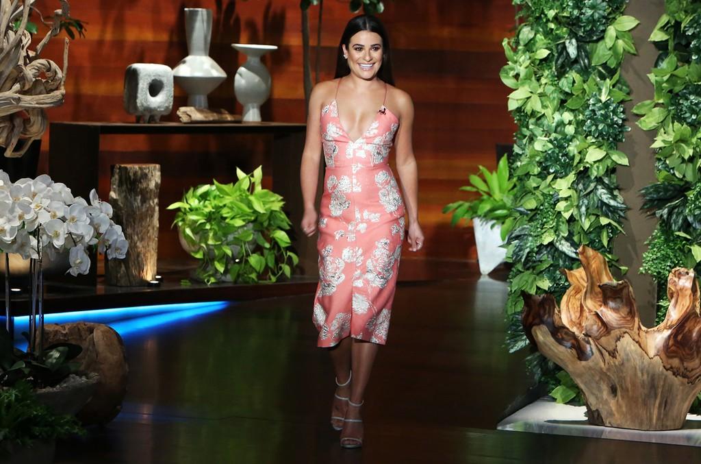 Lea Michele on The Ellen DeGeneres Show on Sept. 26, 2016.