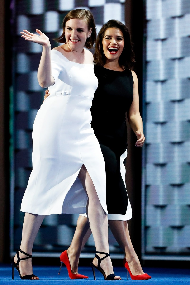 Lena Dunham and America Fererra