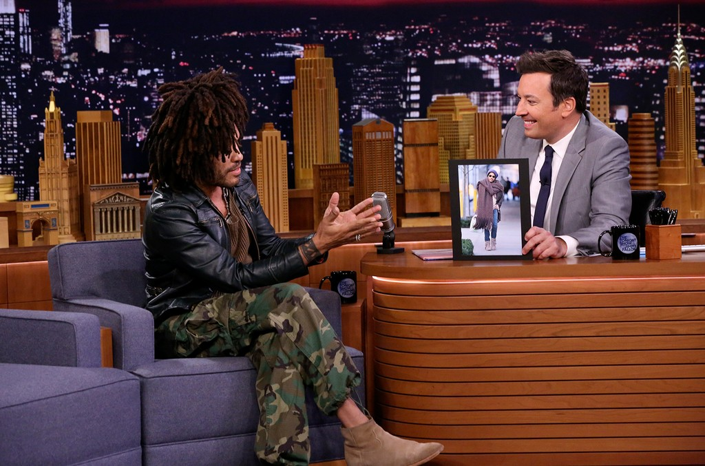 Lenny Kravitz during an interview with host Jimmy Fallon on The Tonight Show Starring Jimmy Fallon on Sept. 17, 2018.