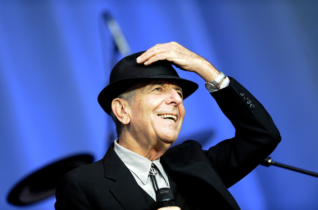 Leonard Cohen performs open air at the Waldbuehne in Berlin on Aug. 18, 2010.