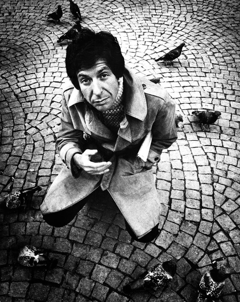 Leonard Cohen posed in Amsterdam, Holland in April 1972.