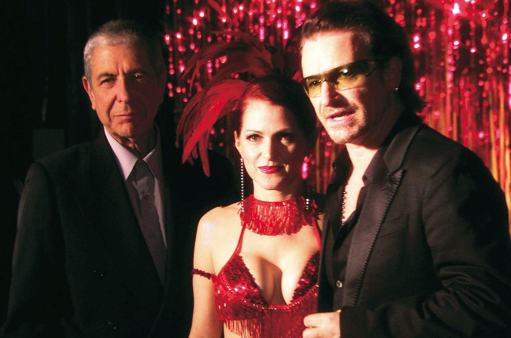 Leonard Cohen, Jo Weldon and Bono in 'I'm Your Man' in 2005.
