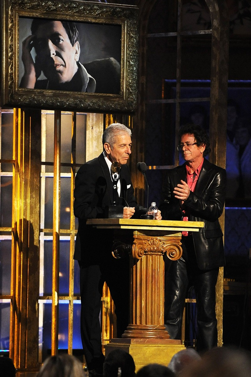 Leonard Cohen and musician Lou Reed