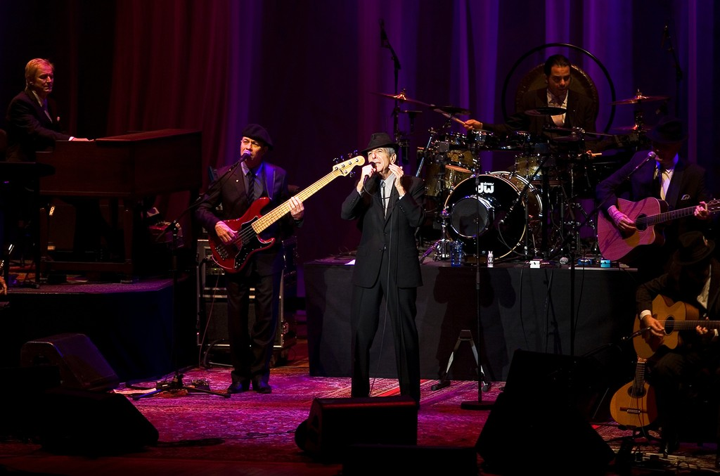 Leonard Cohen at the Merriweather Post Pavilion on May 11, 2009.