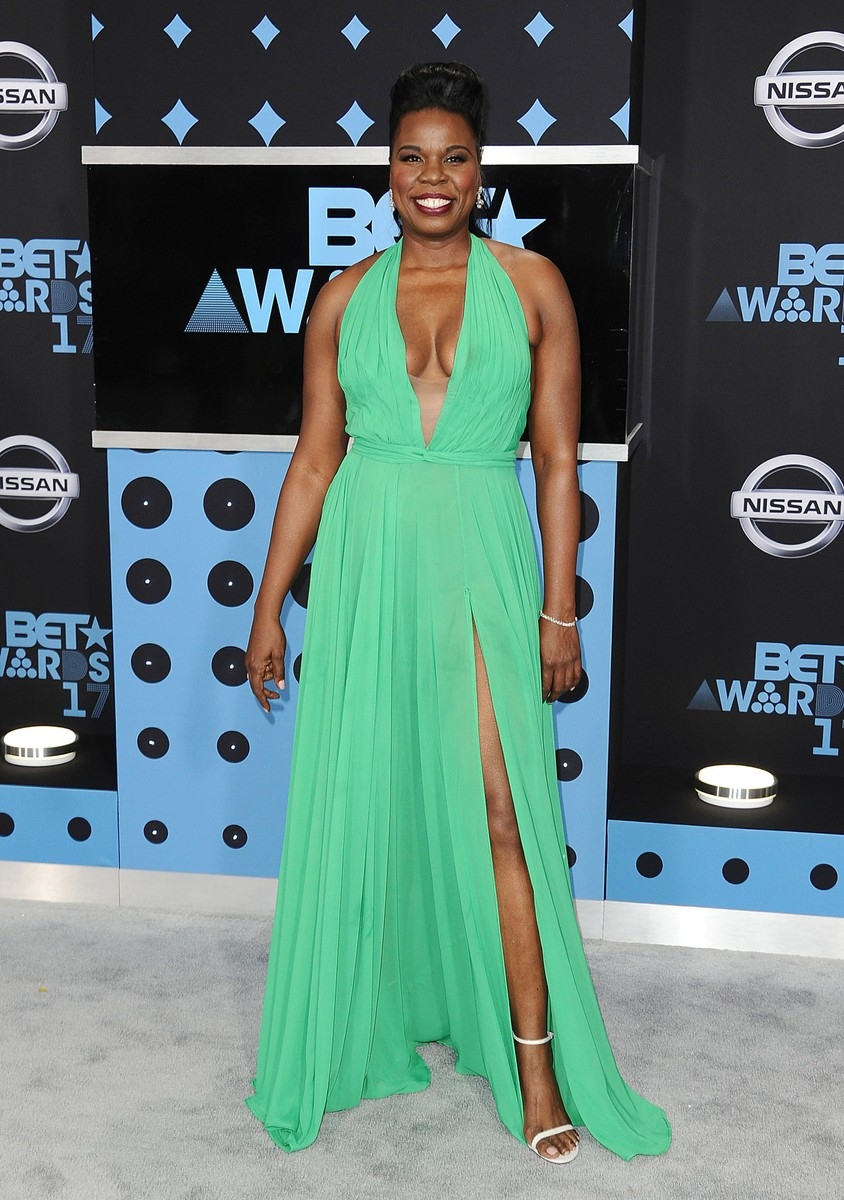 Leslie Jones attends the 2017 BET Awards at Microsoft Theater on June 25, 2017 in Los Angeles.