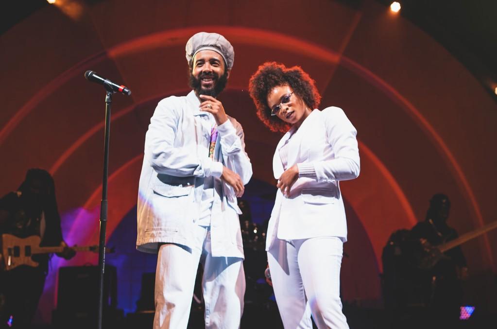 Lila Iké (right) and Protoje