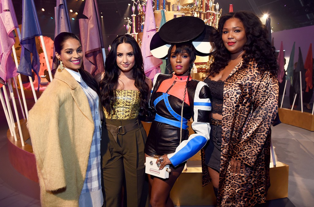 Lilly Singh, Demi Lovato, Janelle Monae, and Lizzo