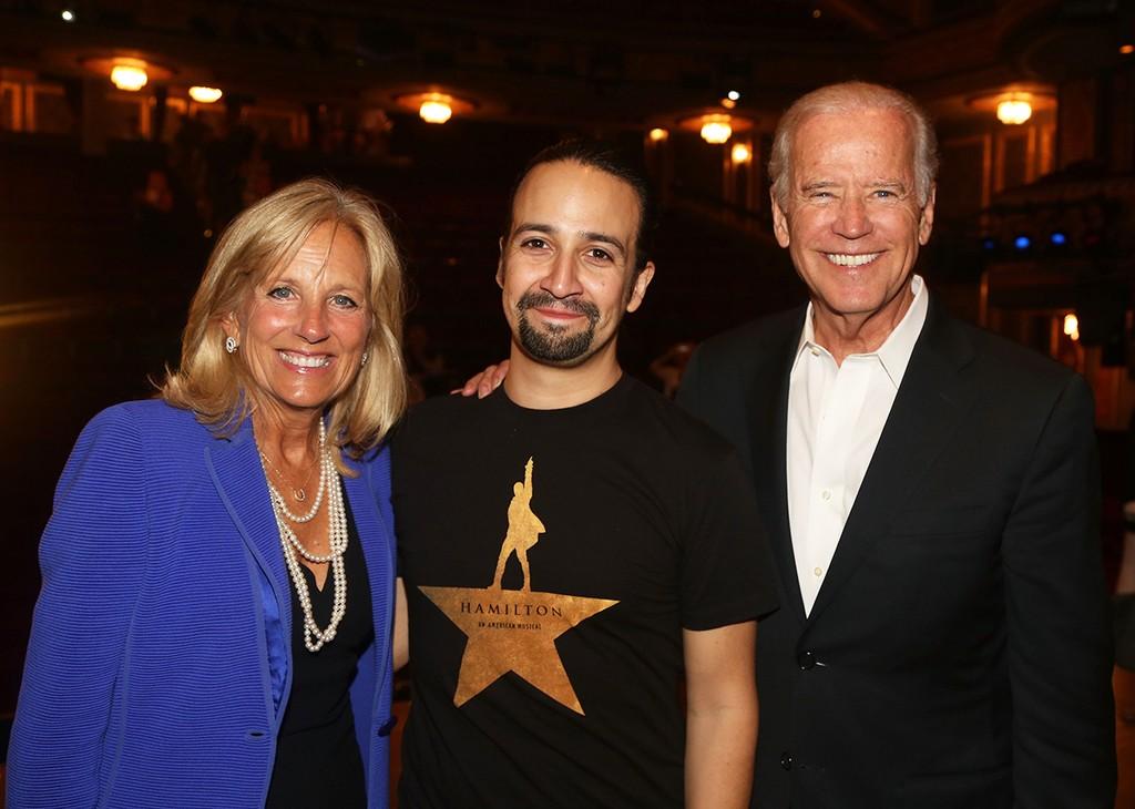 Lin-Manuel Miranda, Vice President Joe Biden & Jill Biden