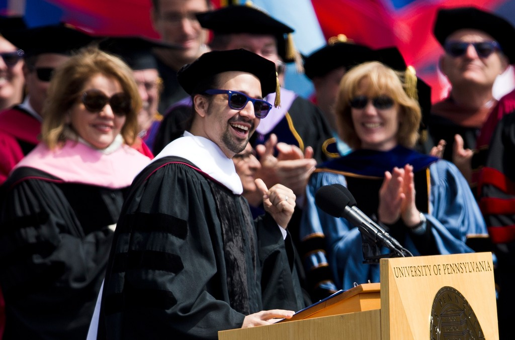 Lin-Manuel Miranda at University of Pennsylvania 2016 commencement ceremony