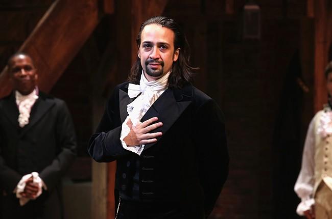 "Lin-Manuel Miranda performs at ""Hamilton"""
