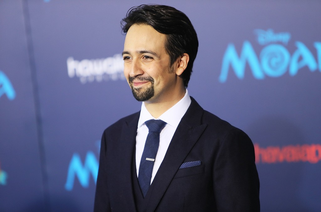 Lin-Manuel Miranda at the premiere of Moana