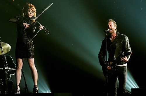 Lindsey Stirling and Dierks Bentle