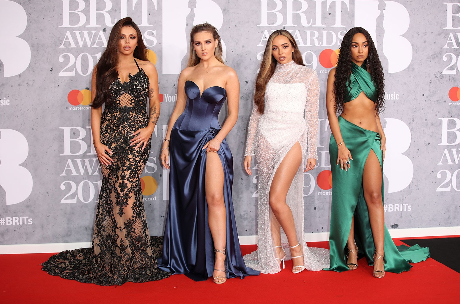 Little Mix attends The BRIT Awards 2019 held at The O2 Arena on Feb. 20, 2019 in London.